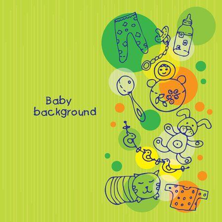 rattles: Baby background  Illustration