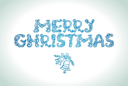 Merry Christmas lettering Stock Vector - 16200742