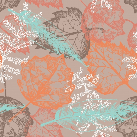 autumn leafs: Seamless pattern with autumn leafs