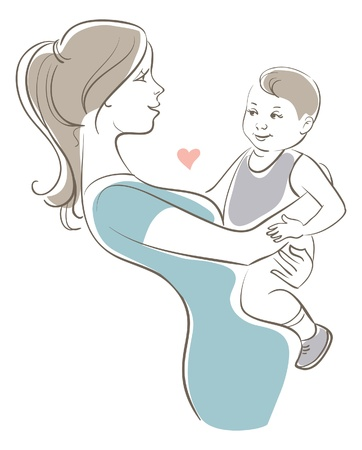 Mother and baby Stock Vector - 16200800