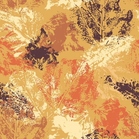 botanic: Seamless pattern with autumn leafs