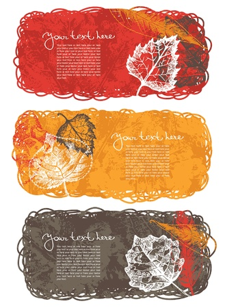 Autumn banners with leafs Vector