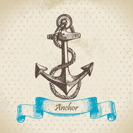 anchor: Anchor. Hand drawn illustration