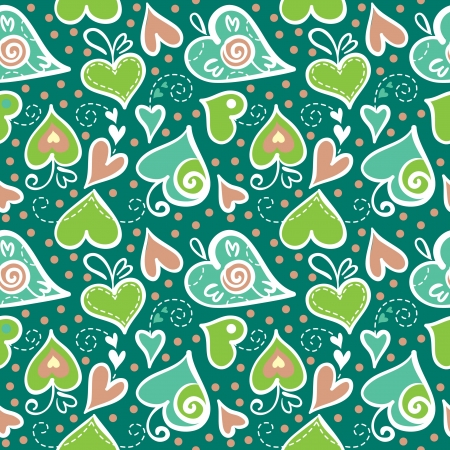 Seamless pattern with abstract hearts Stock Vector - 16201602