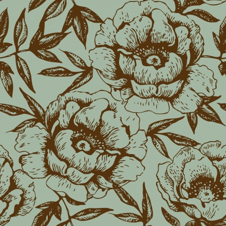 rose: Seamless floral pattern with roses