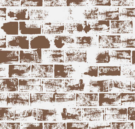 brickwork: Seamless pattern with brick wall   Illustration