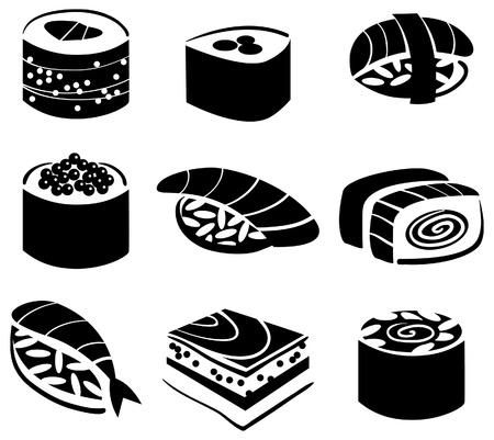 日本料理: 寿司のセット  イラスト・ベクター素材