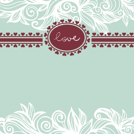 Valentine background with frame Stock Vector - 16200953