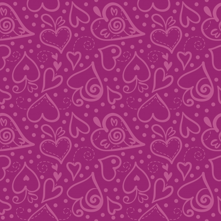 heart seamless pattern: Seamless pattern with abstract hearts
