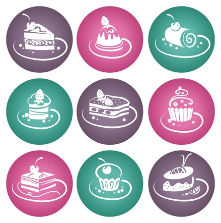 Set of cakes Stock Vector - 16200862