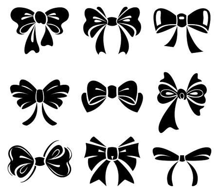 christmas bows: Set of bow
