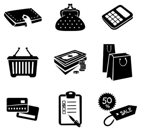 Shopping icons set Stock Vector - 16200836