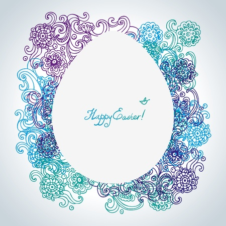 Easter floral background Stock Vector - 16202745