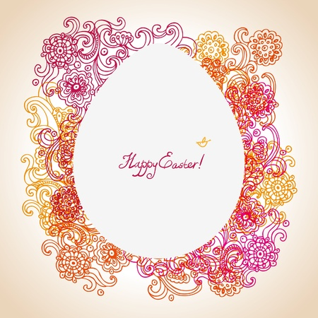Easter floral background Stock Vector - 16202897