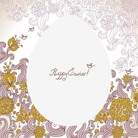 Easter floral background Stock Vector - 16201681