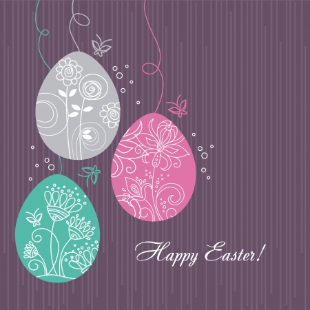 greeting card background: Easter eggs background