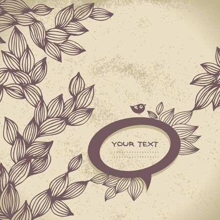 Vintage background with speech bubble frame Vector