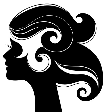 sexy woman silhouette: Beautiful woman silhouette