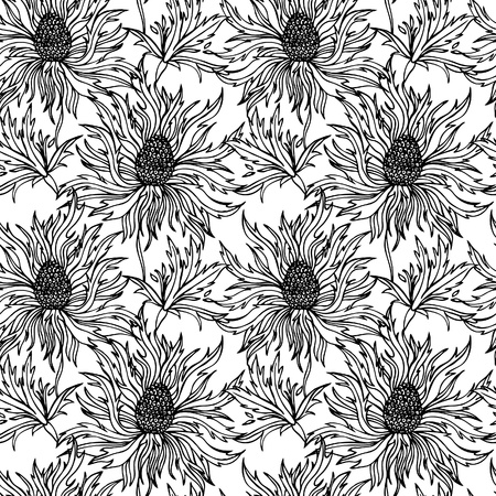 soulful: Floral seamless pattern