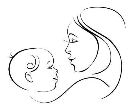 Mother and baby Stock Vector - 16312985
