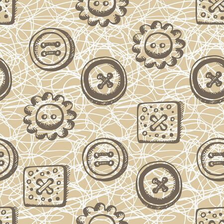 repeatable: Seamless pattern with buttons in retro style