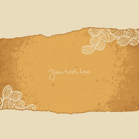 Vintage background with paper torn Vector