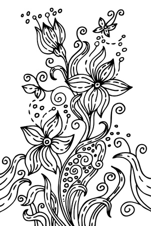 Hand drawn floral illustration Vector