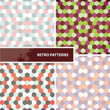 compendium: Set of retro patterns Illustration