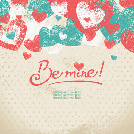 be mine: Card of Valentine's day