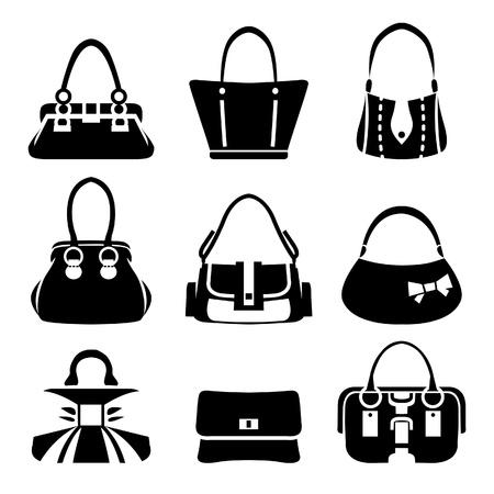 Icone vettoriali di borse femminili