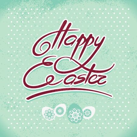Happy Easter, hand lettering. Handmade calligraphy Stock Vector - 18002461