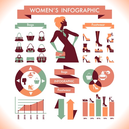 Womens infographic Vector