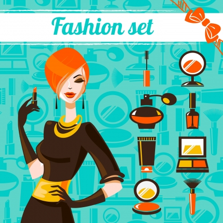 Fashion woman set Vector