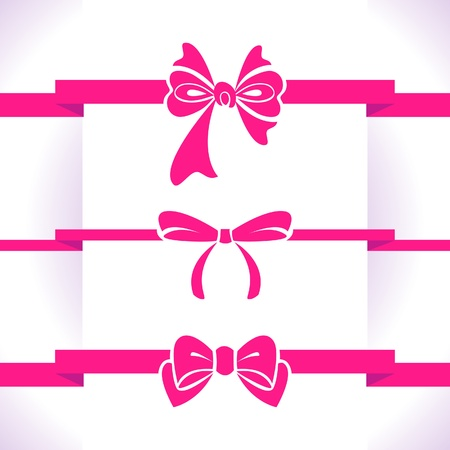 Bow set Stock Vector - 18435931