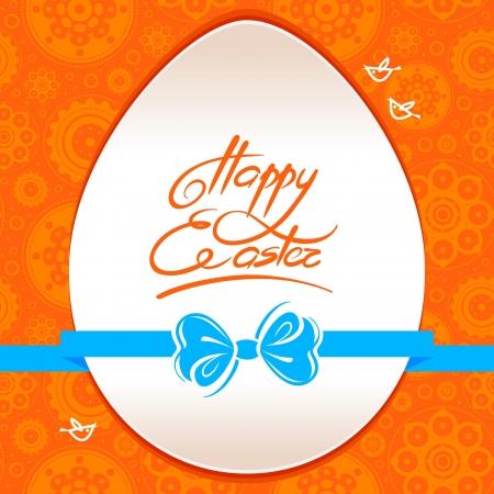 'easter egg': Greeting card with Easter egg symbol Illustration