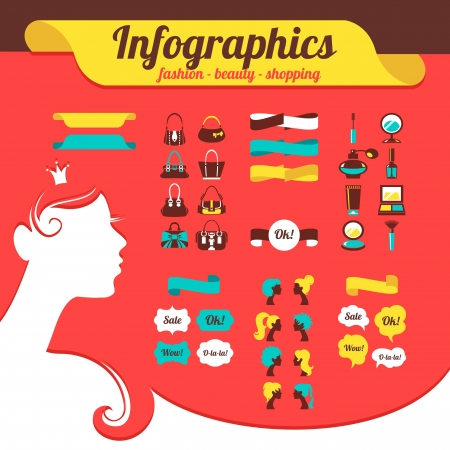 Fashion women's infographics Stock Vector - 18435951