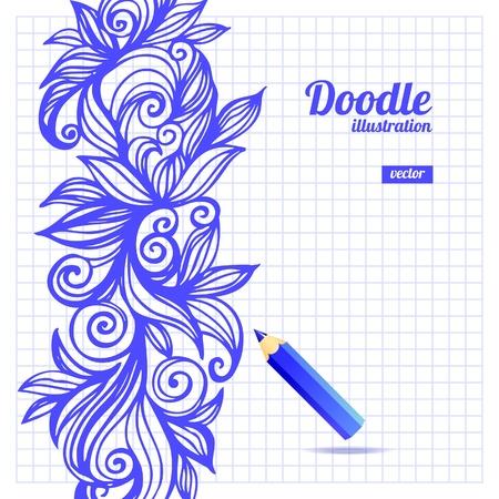 Doodle floral design Vector