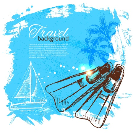 Travel colorful tropical design. Splash blob background Vector