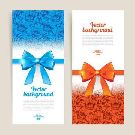 coupon: Gru�karten mit Geschenk B�gen und Kopie Raum. Vector illustration