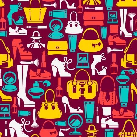 Naadloos patroon met schoonheid vrouwelijke iconen