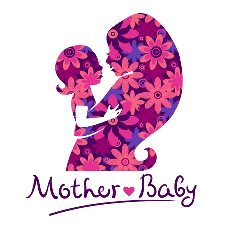nurture: Mother and baby silhouettes