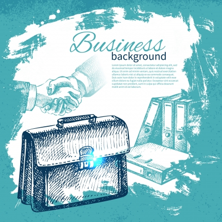 Hand drawn business background Stock Vector - 19352094