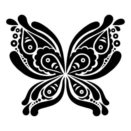 Beautiful butterfly tattoo  Artistic pattern in butterfly shape Stock Vector - 19714279