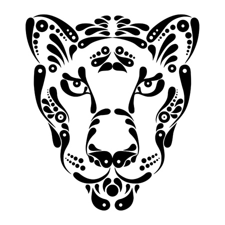 Panther tattoo, symbol decoration illustration Vector