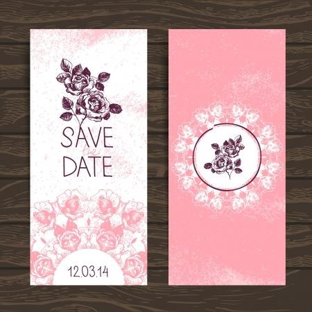 anniversary vintage: Wedding invitation card