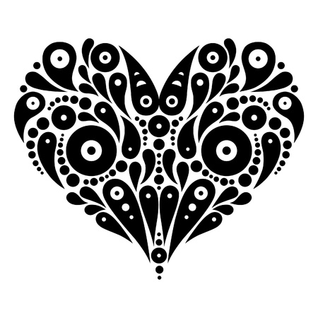 装飾的な心臓のタトゥー