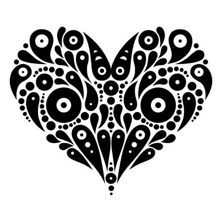 asymmetrical: Decorative heart tattoo