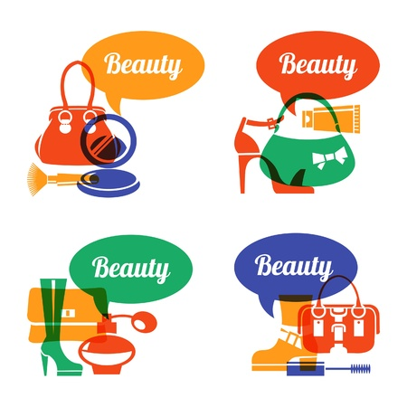 Set of fashion shopping icons. Sale elegant stylish signs Stock Vector - 21531512