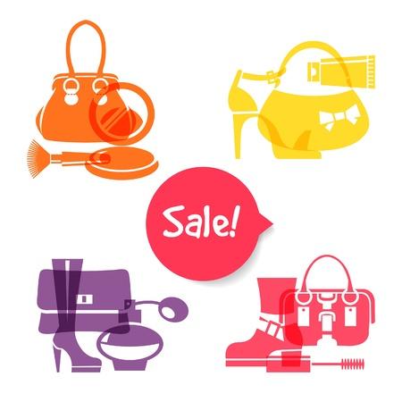 infogaphics: Set of fashion shopping icons. Sale elegant stylish signs  Illustration