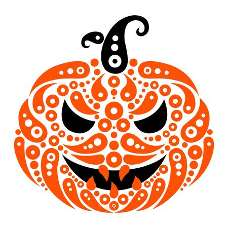 Halloween pumpkin. Decorative pattern silhouette of pumpkin  Vector